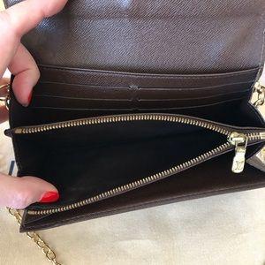 Louis Vuitton Bags - Louis Vuitton Damier Ebene Sarah Wallet with Chain
